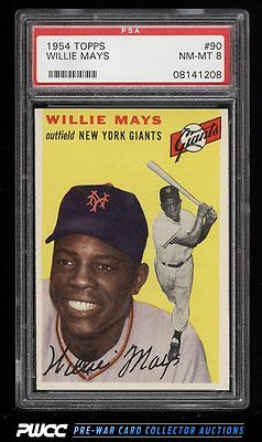 1954 Topps Willie Mays 90 PSA 8 NMMT PWCC