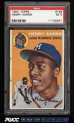 1954 Topps Hank Aaron ROOKIE RC 128 PSA 5 EX PWCC