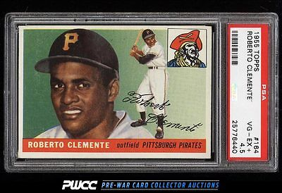 1955 Topps Roberto Clemente ROOKIE RC 164 PSA 45 VGEX PWCC