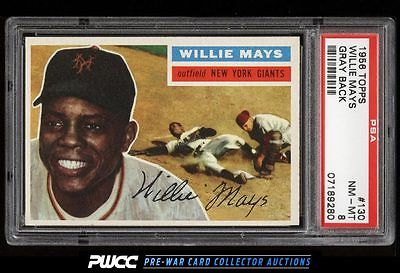 1956 Topps Willie Mays 130 PSA 8 NMMT PWCC
