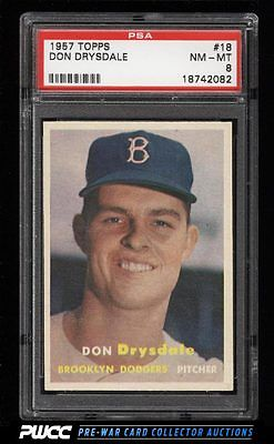 1957 Topps Don Drysdale ROOKIE RC 18 PSA 8 NMMT PWCC
