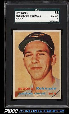 1957 Topps Brooks Robinson ROOKIE RC 328 SGC 888 NMMT PWCC