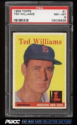 1958 Topps Ted Williams 1 PSA 8 NMMT PWCC