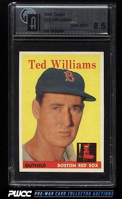 1958 Topps Ted Williams 1 GAI 85 NMMT PWCC