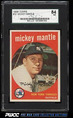 1959 Topps Mickey Mantle 10 SGC 784 NRMT PWCC