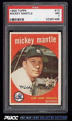 1959 Topps Mickey Mantle 10 PSA 7 NRMT PWCC