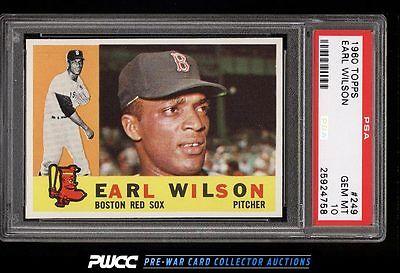 1960 Topps Earl Wilson 249 PSA 10 GEM MINT PWCC