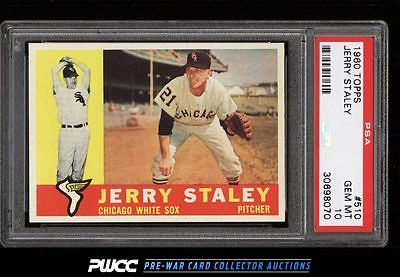 1960 Topps Jerry Staley 510 PSA 10 GEM MINT PWCC