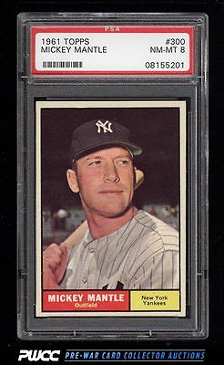 1961 Topps Mickey Mantle 300 PSA 8 NMMT PWCC
