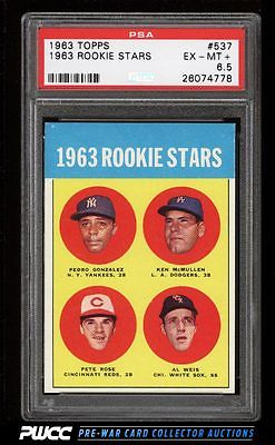 1963 Topps Pete Rose ROOKIE RC 537 PSA 65 EXMT PWCC