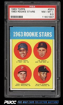 1963 Topps Willie Stargell ROOKIE RC 553 PSA 85 NMMT PWCC