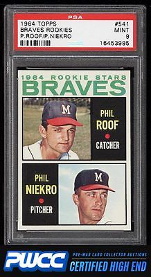 1964 Topps Phil Niekro ROOKIE RC 541 PSA 9 MINT PWCCHE