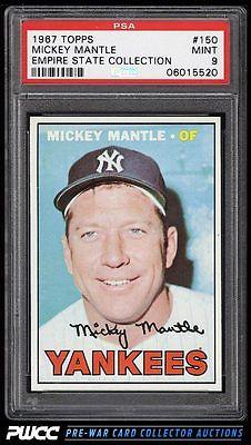 1967 Topps Mickey Mantle 150 PSA 9 MINT PWCC