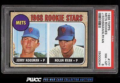 1968 Topps Nolan Ryan ROOKIE RC 177 PSA 8 NMMT PWCC