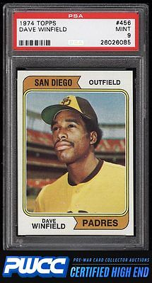 1974 Topps Dave Winfield ROOKIE RC 456 PSA 9 MINT PWCCHE