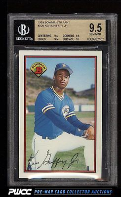 1989 Bowman Tiffany Ken Griffey Jr ROOKIE RC 220 BGS 95 GEM MINT PWCC