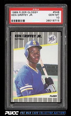 1989 Fleer Glossy Ken Griffey Jr ROOKIE RC 548 PSA 10 GEM MINT PWCC