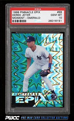 1998 Pinnacle Epix Moment Emerald Derek Jeter E8 PSA 10 GEM MINT PWCC