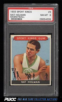1933 Goudey Sport Kings Basketball Nat Holman ROOKIE RC 3 PSA 8 NMMT PWCC