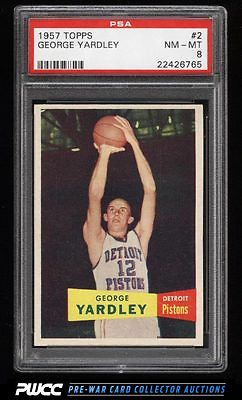 1957 Topps Basketball George Yardley ROOKIE RC 2 PSA 8 NMMT PWCC
