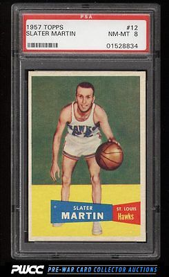 1957 Topps Basketball Slater Martin ROOKIE RC 12 PSA 8 NMMT PWCC