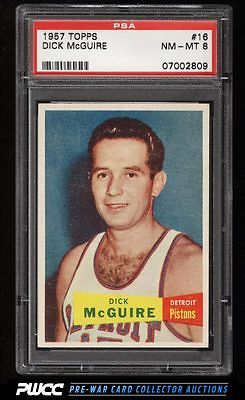 1957 Topps Basketball Dick McGuire ROOKIE RC 16 PSA 8 NMMT PWCC