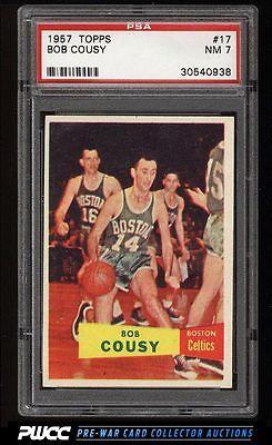 1957 Topps Basketball Bob Cousy ROOKIE RC 17 PSA 7 NRMT PWCC
