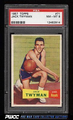 1957 Topps Basketball Jack Twyman ROOKIE RC 71 PSA 8 NMMT PWCC