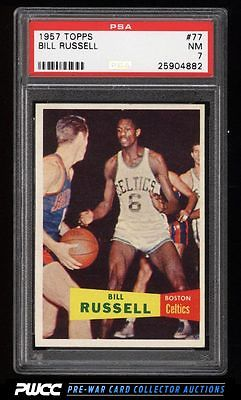1957 Topps Basketball Bill Russell SP ROOKIE RC 77 PSA 7 NRMT PWCC