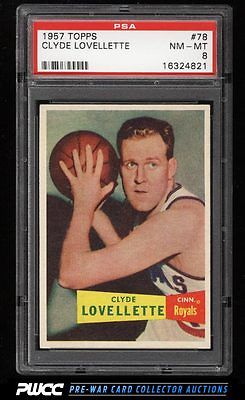 1957 Topps Basketball Clyde Lovellette ROOKIE RC 78 PSA 8 NMMT PWCC
