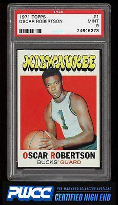 1971 Topps Basketball Oscar Robertson 1 PSA 9 MINT PWCCHE