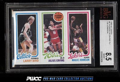 1980 Topps Basketball Larry Bird  Magic Johnson ROOKIE RC BVG 85 NMMT PWCC
