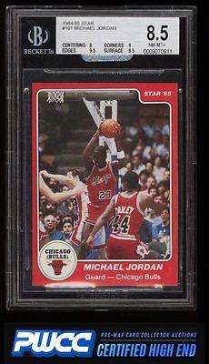 198485 Star Basketball Michael Jordan ROOKIE RC 101 BGS 85 NMMT PWCCHE