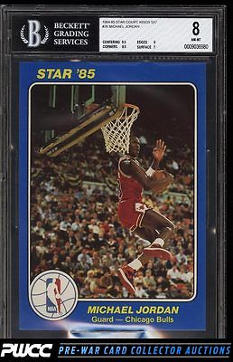 198485 Star Court Kings 5X7 Michael Jordan ROOKIE RC 26 BGS 8 NMMT PWCC