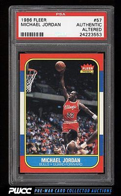 1986 Fleer Basketball Michael Jordan ROOKIE RC 57 PSA Trimmed PWCC