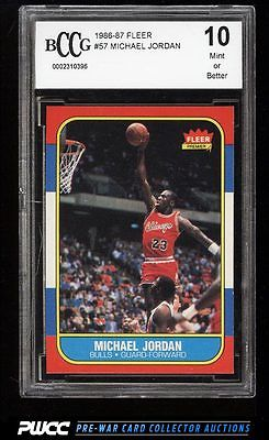 1986 Fleer Basketball Michael Jordan ROOKIE RC 57 BCCG 10 PWCC