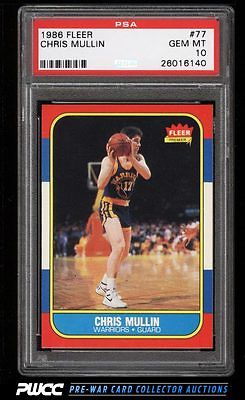 1986 Fleer Basketball Chris Mullin ROOKIE RC 77 PSA 10 GEM MINT PWCC