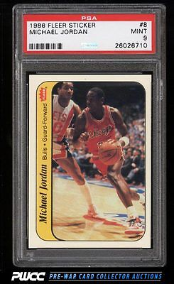 1986 Fleer Sticker Michael Jordan ROOKIE RC 8 PSA 9 MINT PWCC