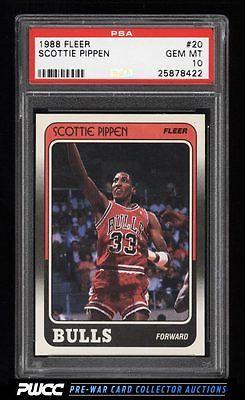 1988 Fleer Basketball Scottie Pippen ROOKIE RC 20 PSA 10 GEM MINT PWCC