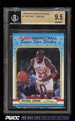 1988 Fleer Sticker Michael Jordan 7 BGS 95 GEM MINT PWCC