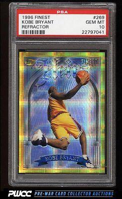 1996 Finest Refractor Gold Kobe Bryant ROOKIE RC 269 PSA 10 GEM MINT PWCC
