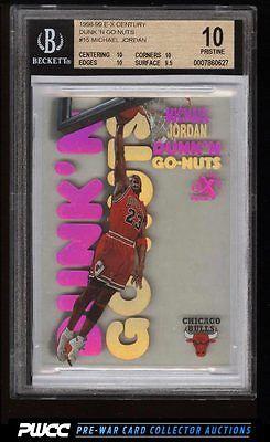 1998 EX Century Dunk N Go Nuts Michael Jordan 15 BGS 10 PRISTINE PWCC