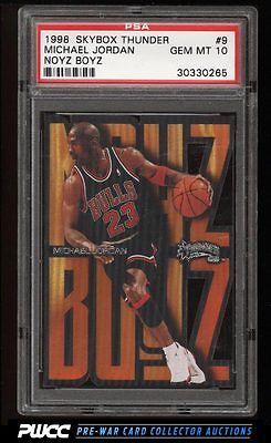 1998 Skybox Thunder Noyz Boyz Michael Jordan 9 PSA 10 GEM MINT PWCC