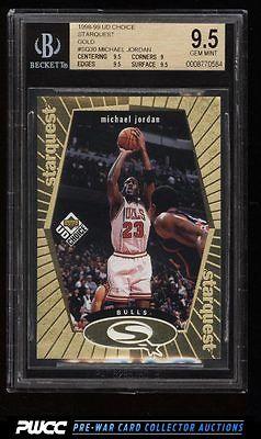 1998 UD Choice Starquest Gold Michael Jordan 100 SQ30 BGS 95 GEM MINT PWCC