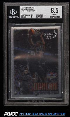 1999 Hoops Starting Five Tim Duncan 5 104 BGS 85 NMMT PWCC