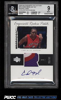 200304 Exquisite Collection Chris Bosh ROOKIE AUTO PATCH 99 75 BGS 9 PWCC