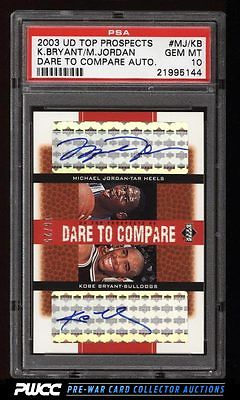 2003 UD Top Prospects Dare To Compare Michael Jordan Bryant AUTO PSA 10 PWCC