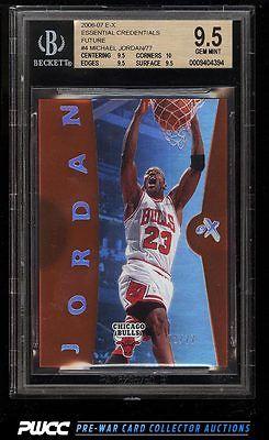2006 EX Essential Credentials Future Michael Jordan 77 4 BGS 95 GEM PWCC