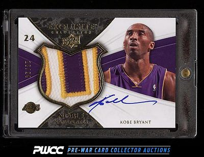 2008 Exquisite Collection Noble Nameplates Kobe Bryant AUTO PATCH 24 PWCC