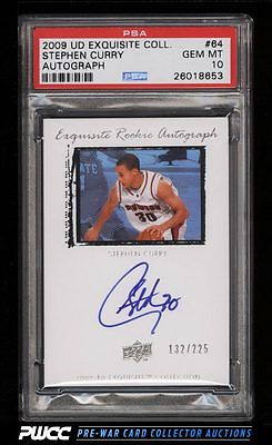 2009 UD Exquisite Collection Stephen Curry ROOKIE RC AUTO 225 PSA 10 GEM PWCC